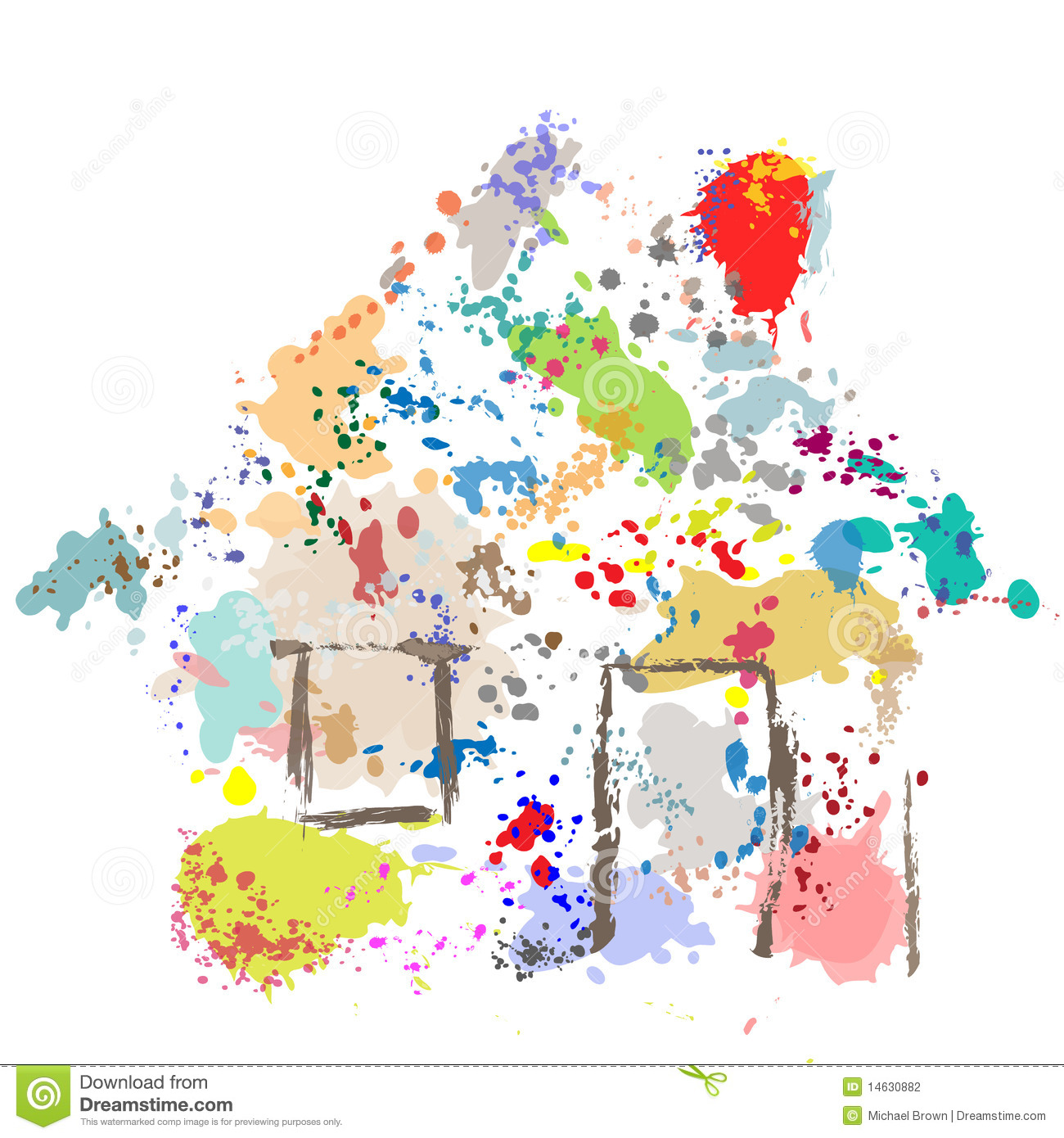 House Paint Drops Splatter Grunge Home Abstract Stock