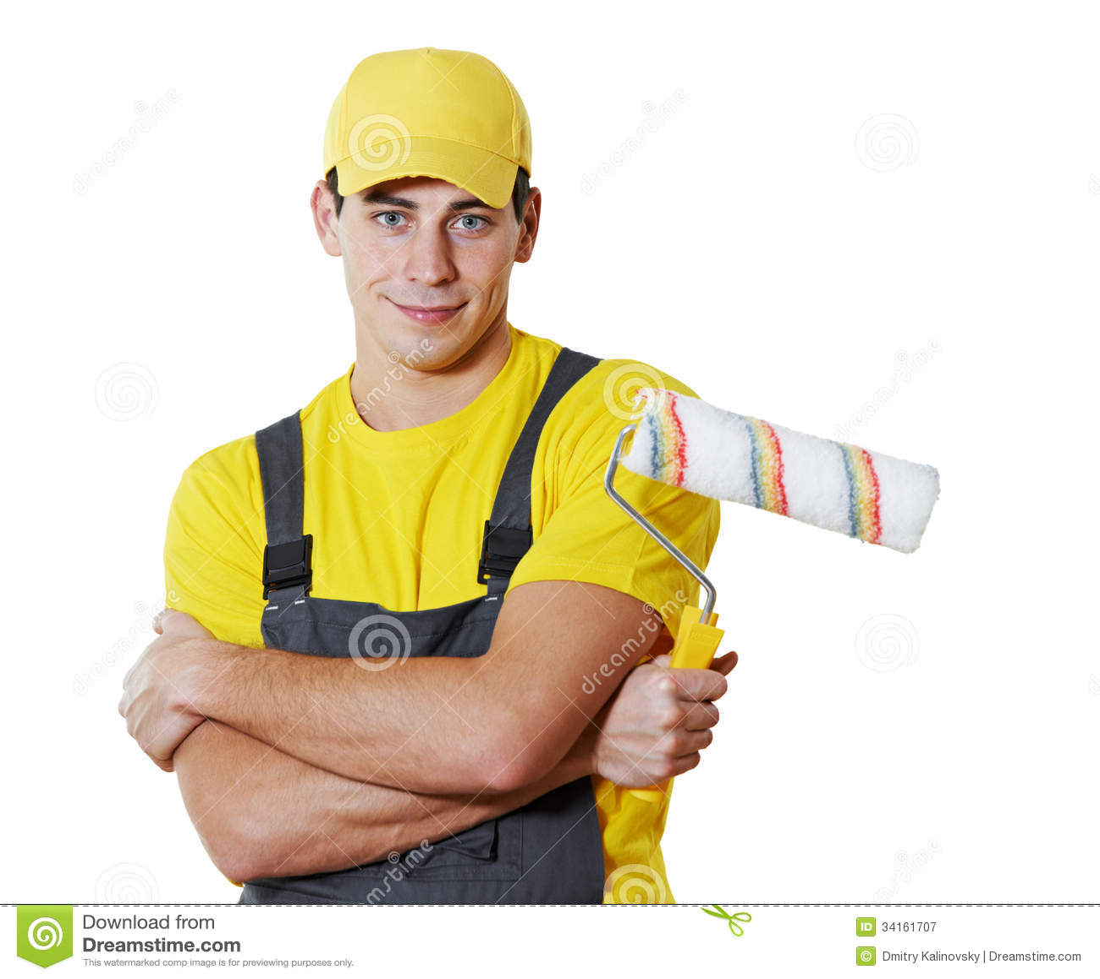House Painter Portrait Stock Image Image Of Craftsman