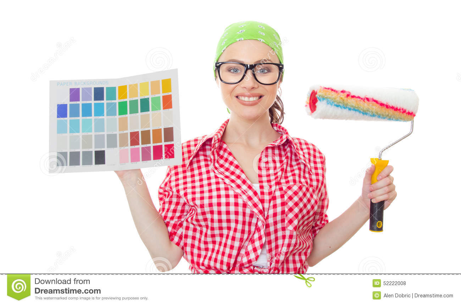 House painter woman stock photo. Image of decision, pantone - 52222008