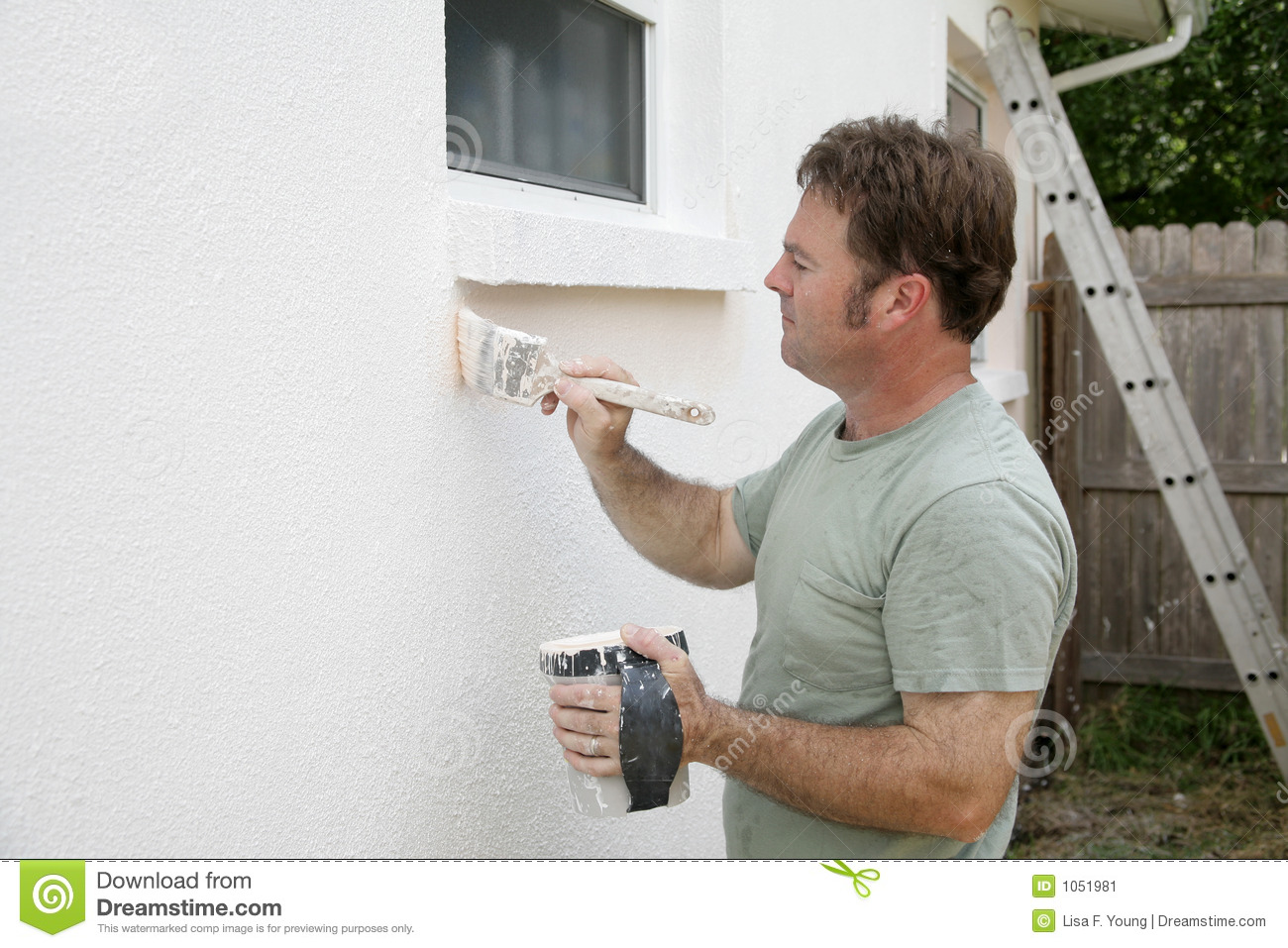 House Painter Working Stock Image Image Of Collar Effort