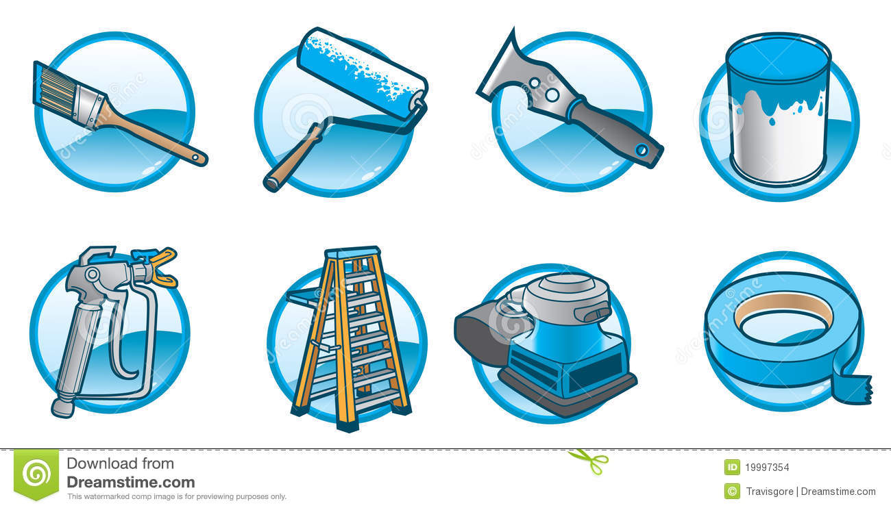 House Painting Icons Stock Images - Image: 19997354