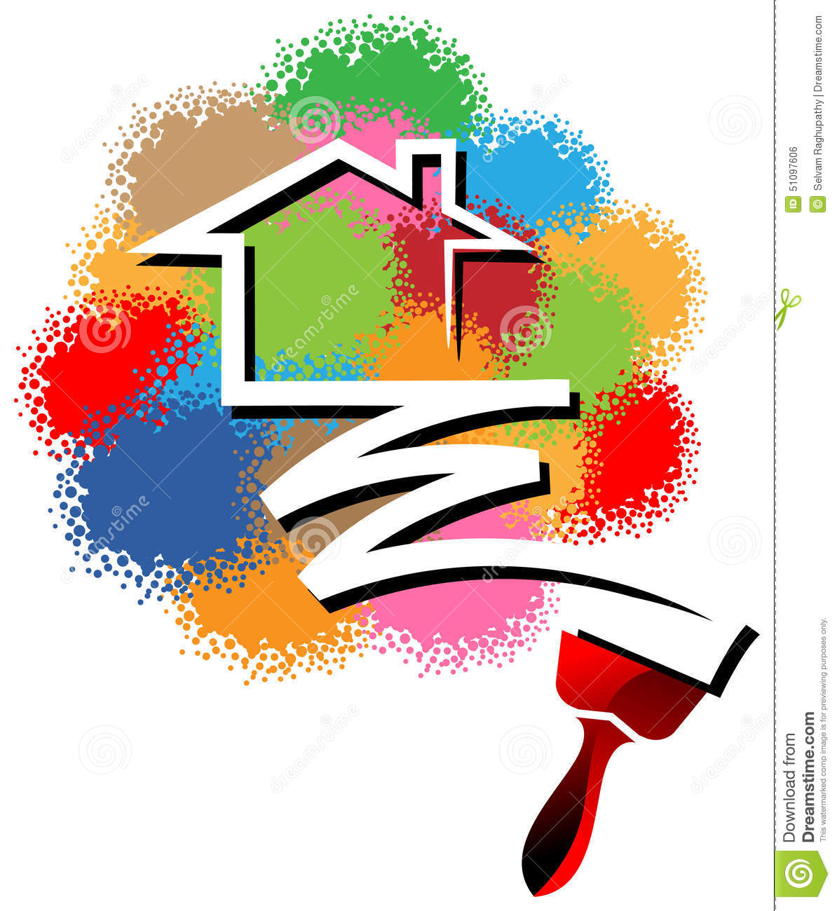 house painting logo stock vector illustration of coat