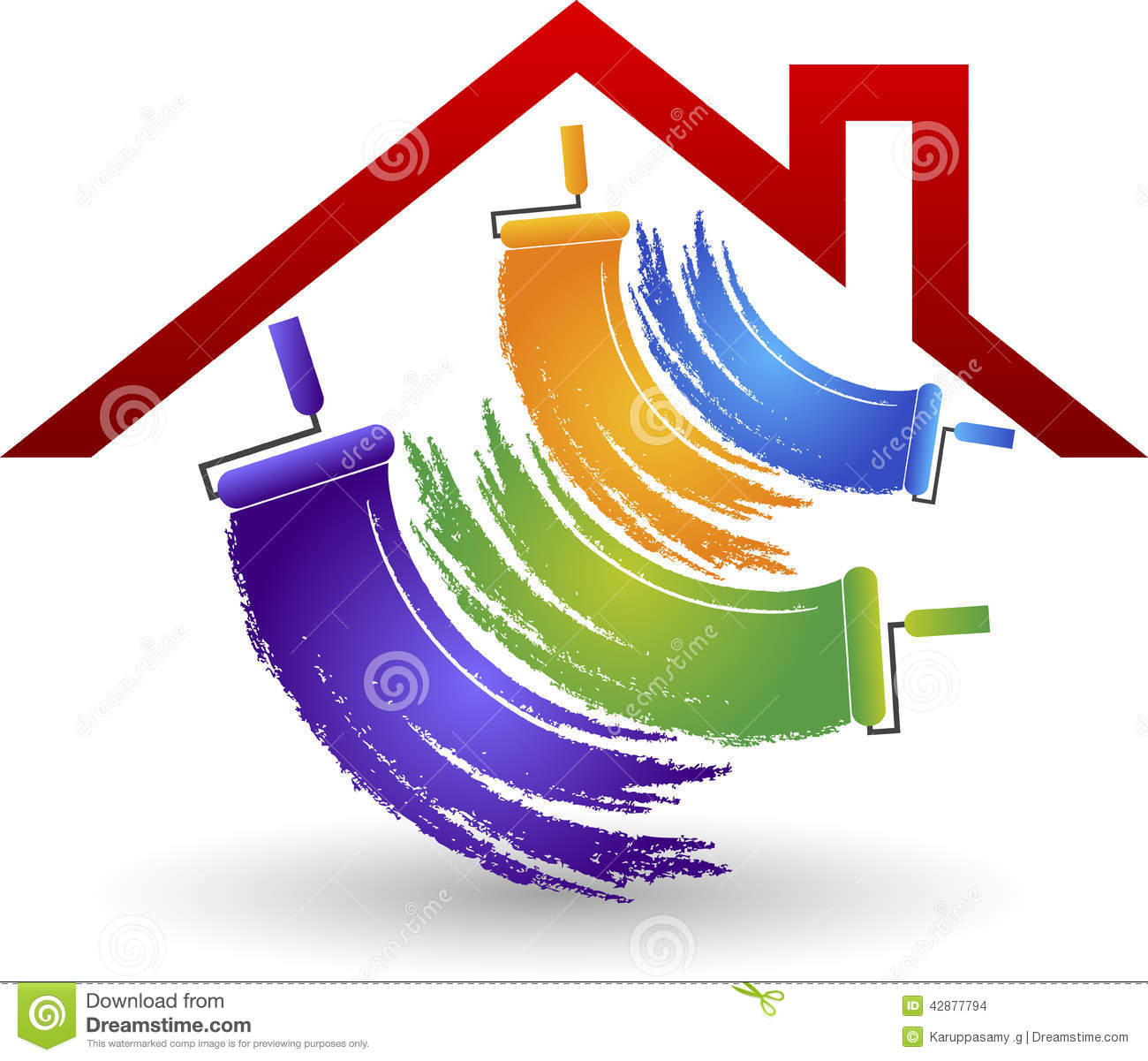House painting logo stock vector illustration of for Home painting images
