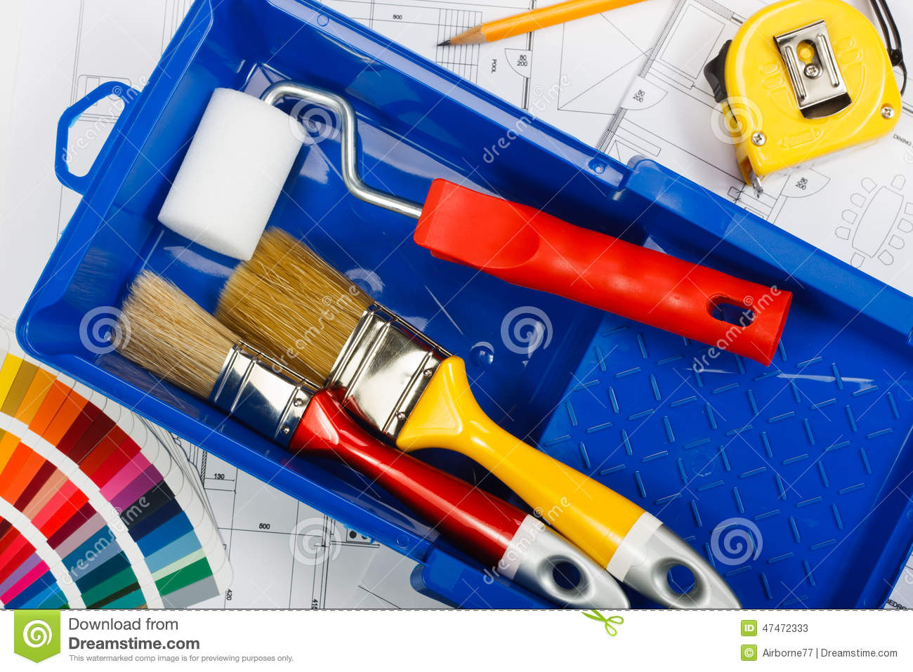 House painting stock image  Image of supply, home, painter