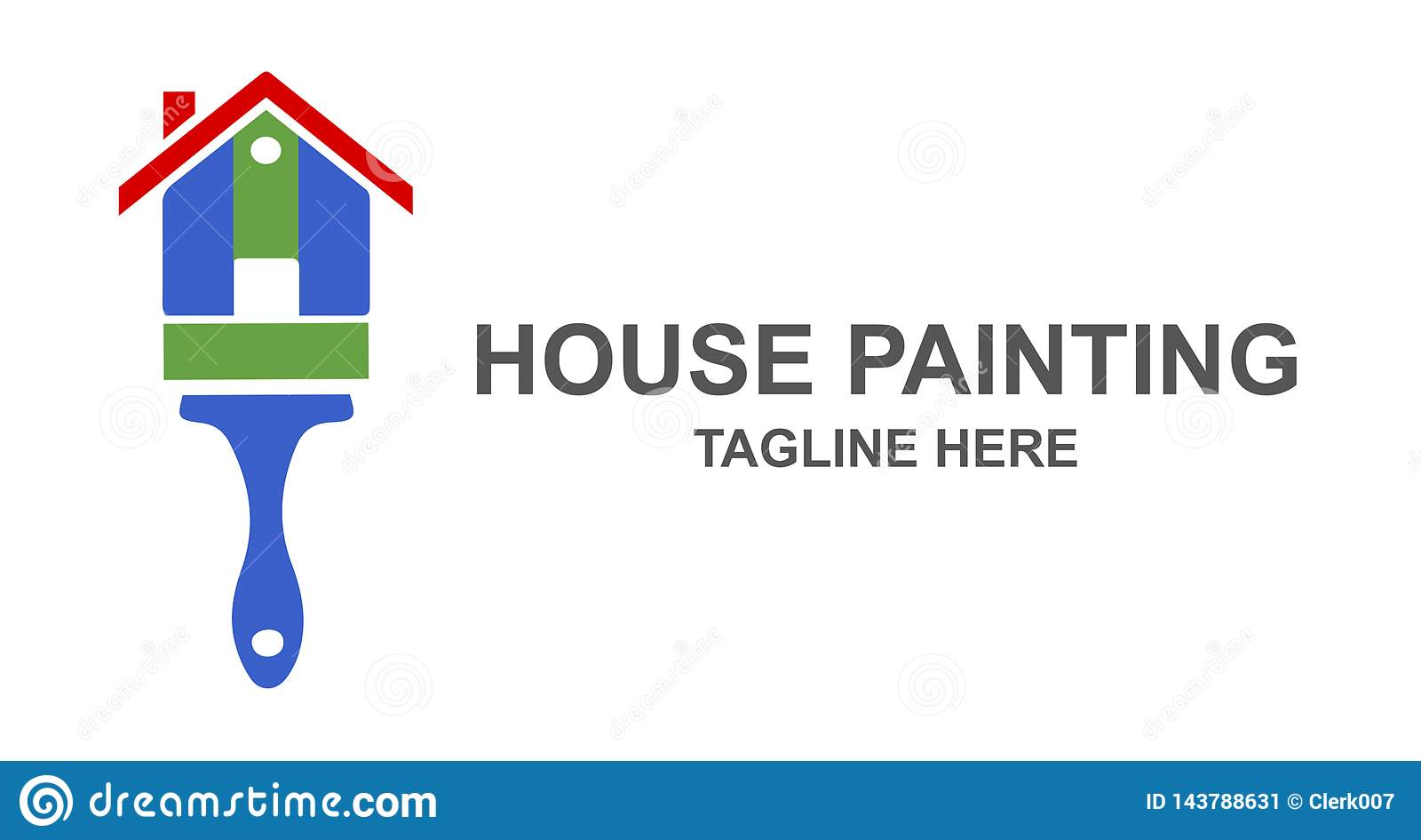 House Painting And Remodeling Logo Design Stock Vector