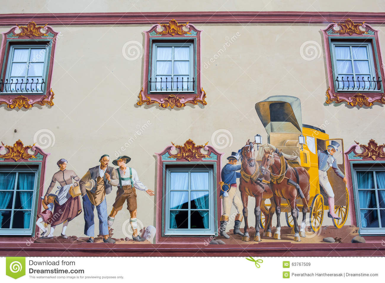 House Painting on The Wall - Mittenwald, Germany