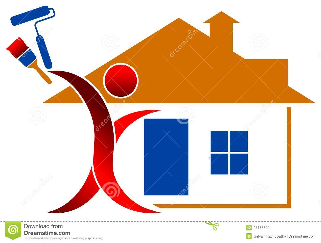 House Paintng Logo Stock Photo Image 25183300