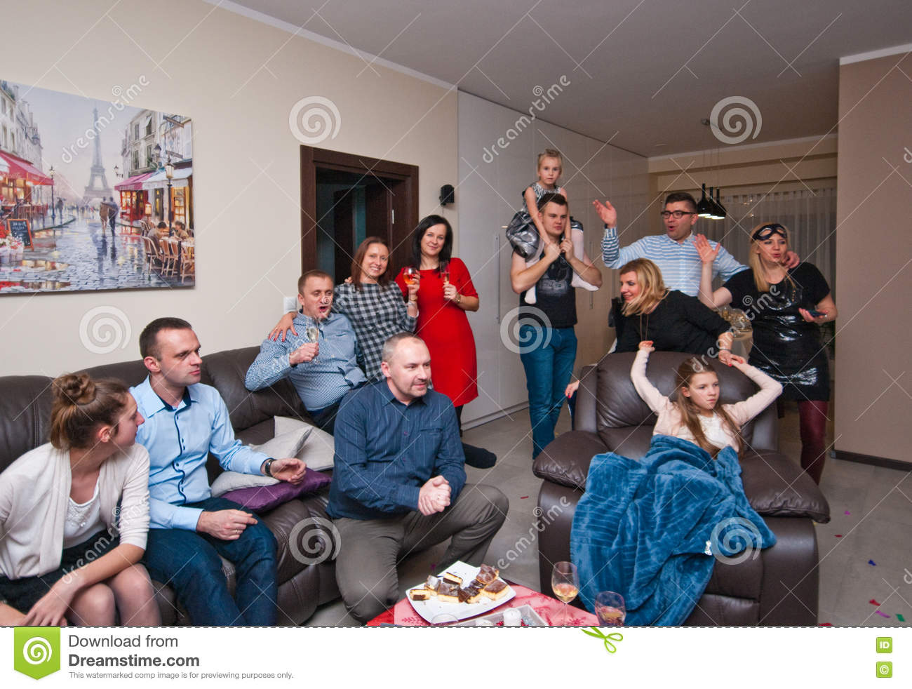House Party On New Year's Eve Stock Image - Image of ...