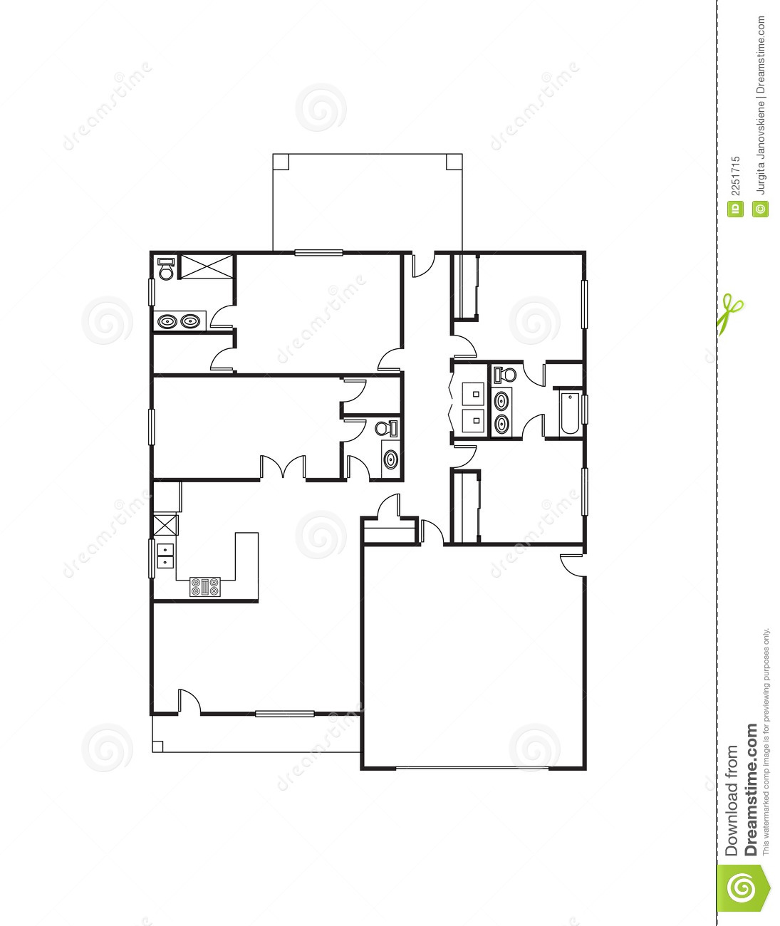 House plan royalty free stock photo image 2251715 for Stock house plans