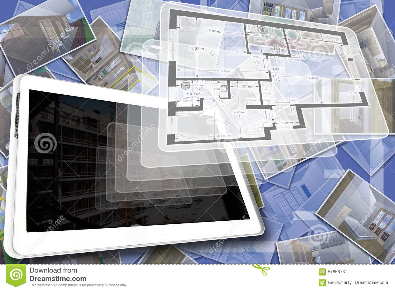 House plan stock illustration image 57858781 for Digital house design