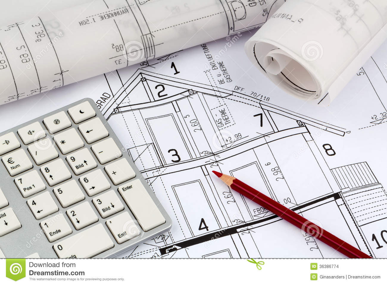 Architect Blueprint Construction House New Plan