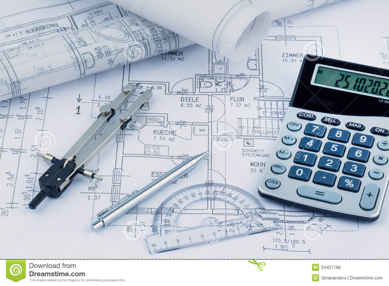 New Home Construction Plans a house plan royalty free stock image - image: 34427186