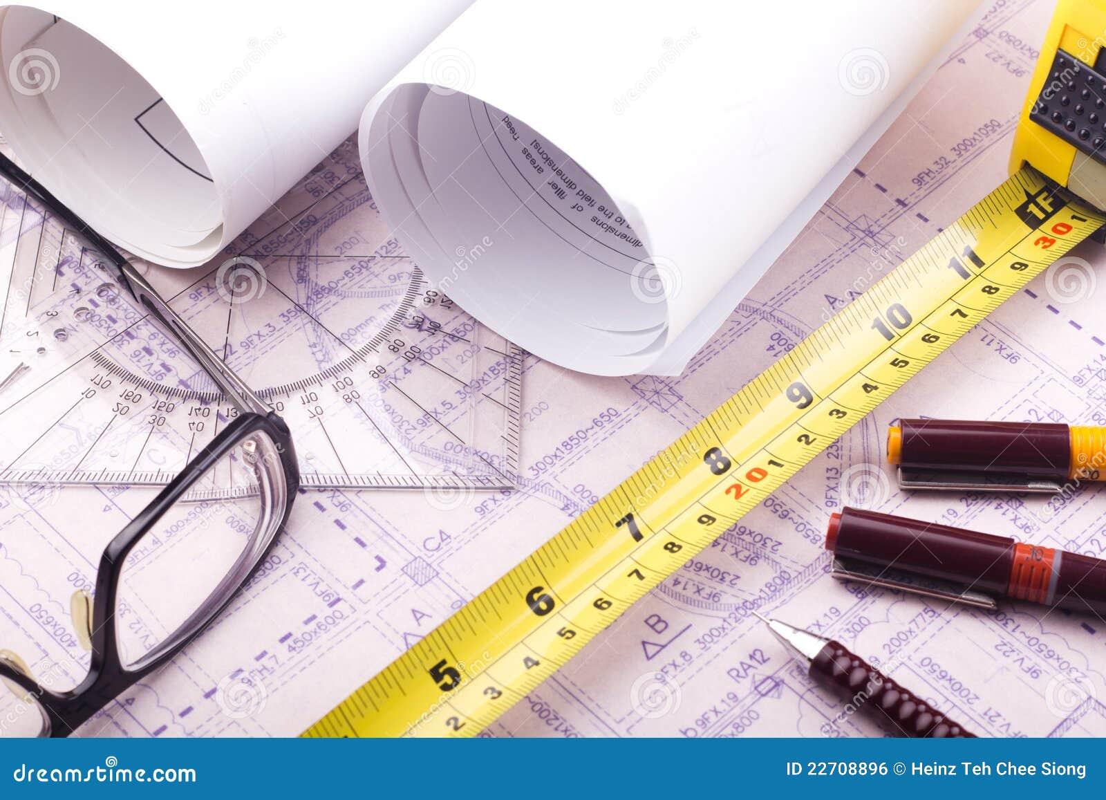 Designing A House Floor Plan House Plan Blueprint Architect Design Royalty Free Stock