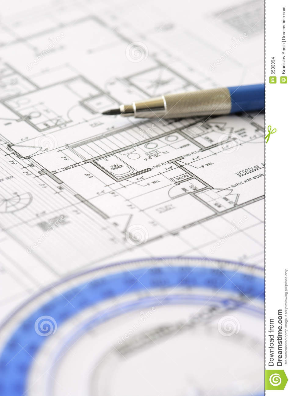 House plan blueprint architect design stock photo for Architecture blueprint