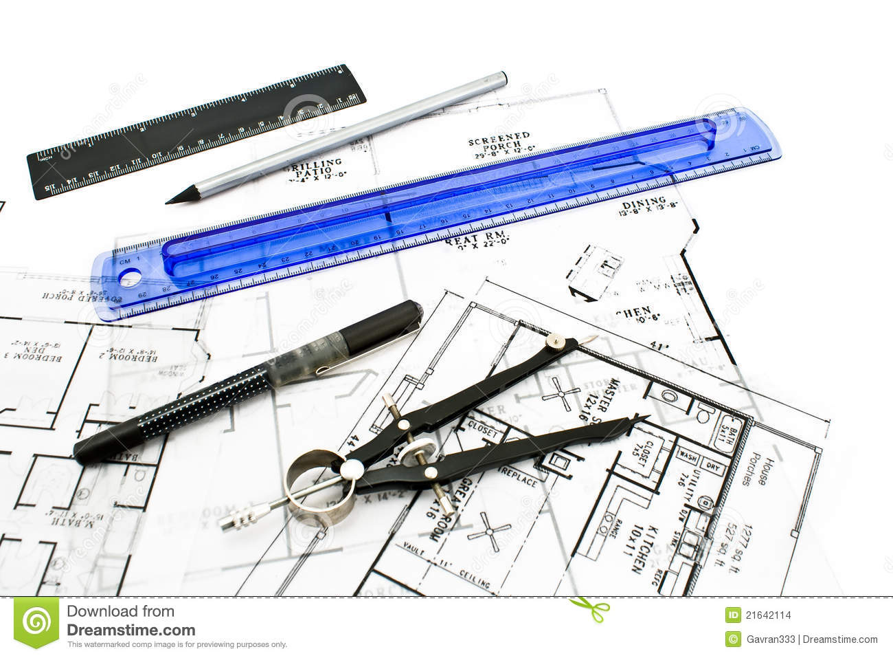 House plan blueprints with drawing tools stock images image 21642114 House plan drawing tool