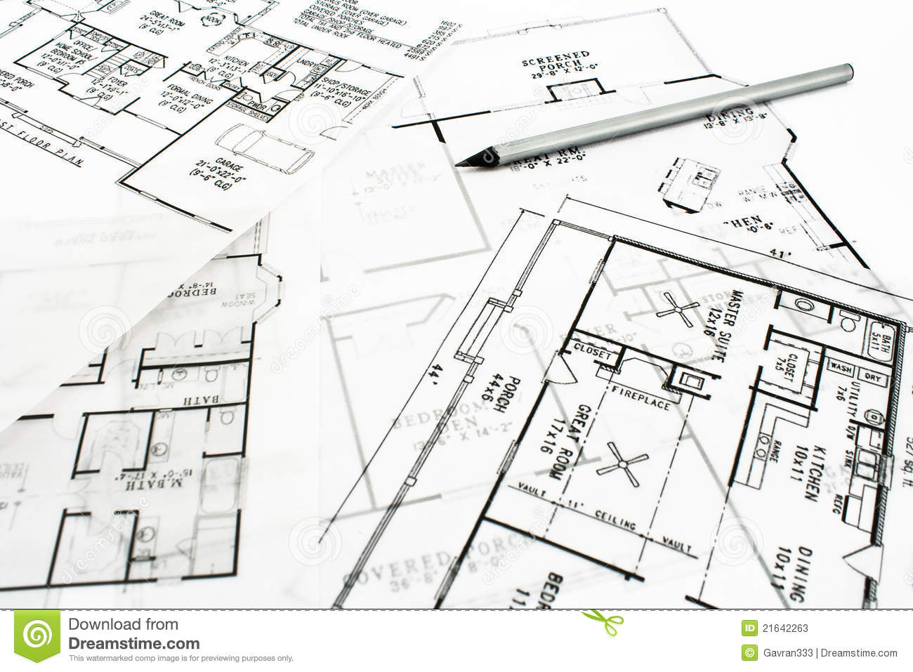 house plan blueprints with pencil stock photos image 21642263 architecture drawing house pencil plan