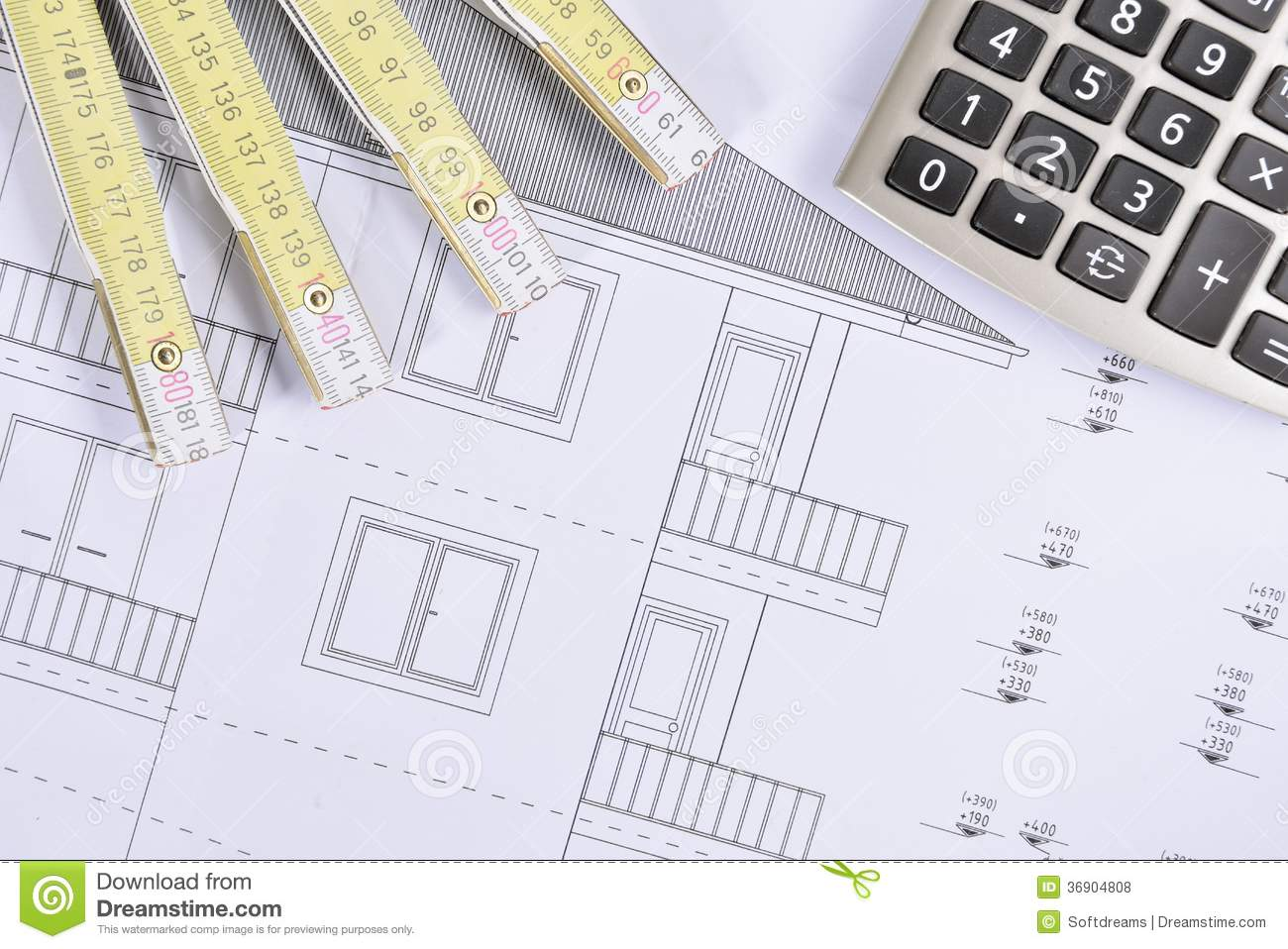 House plan stock photo image of builder estate for House plan calculator