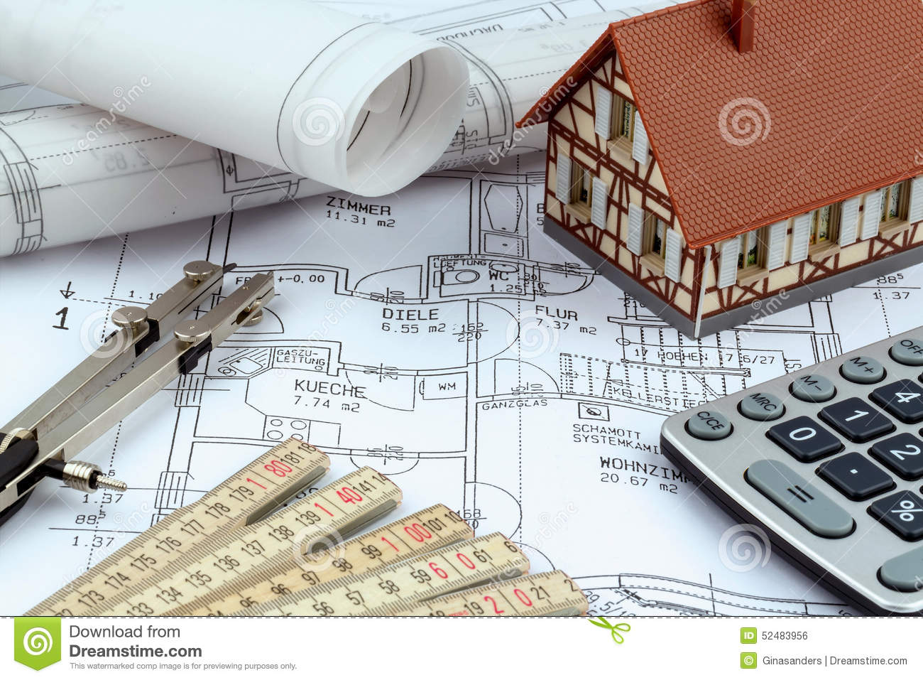 House plan with calculator stock photo image of cost 52483956 download comp malvernweather Gallery