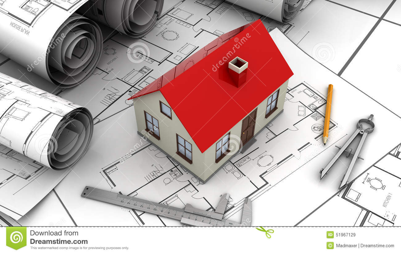 House plan stock illustration image 51967129 House plan drawing tool