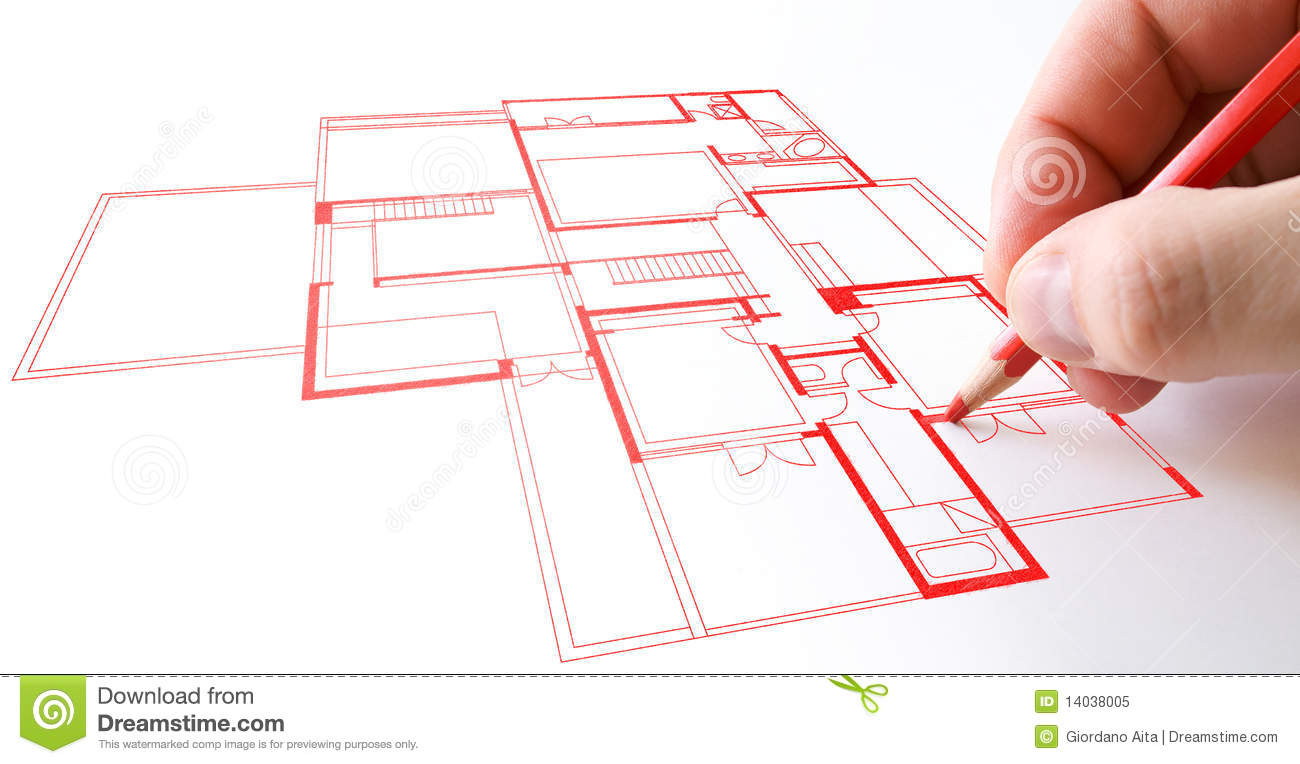 House Plan Drawing Stock Image Image Of Drawing Draw