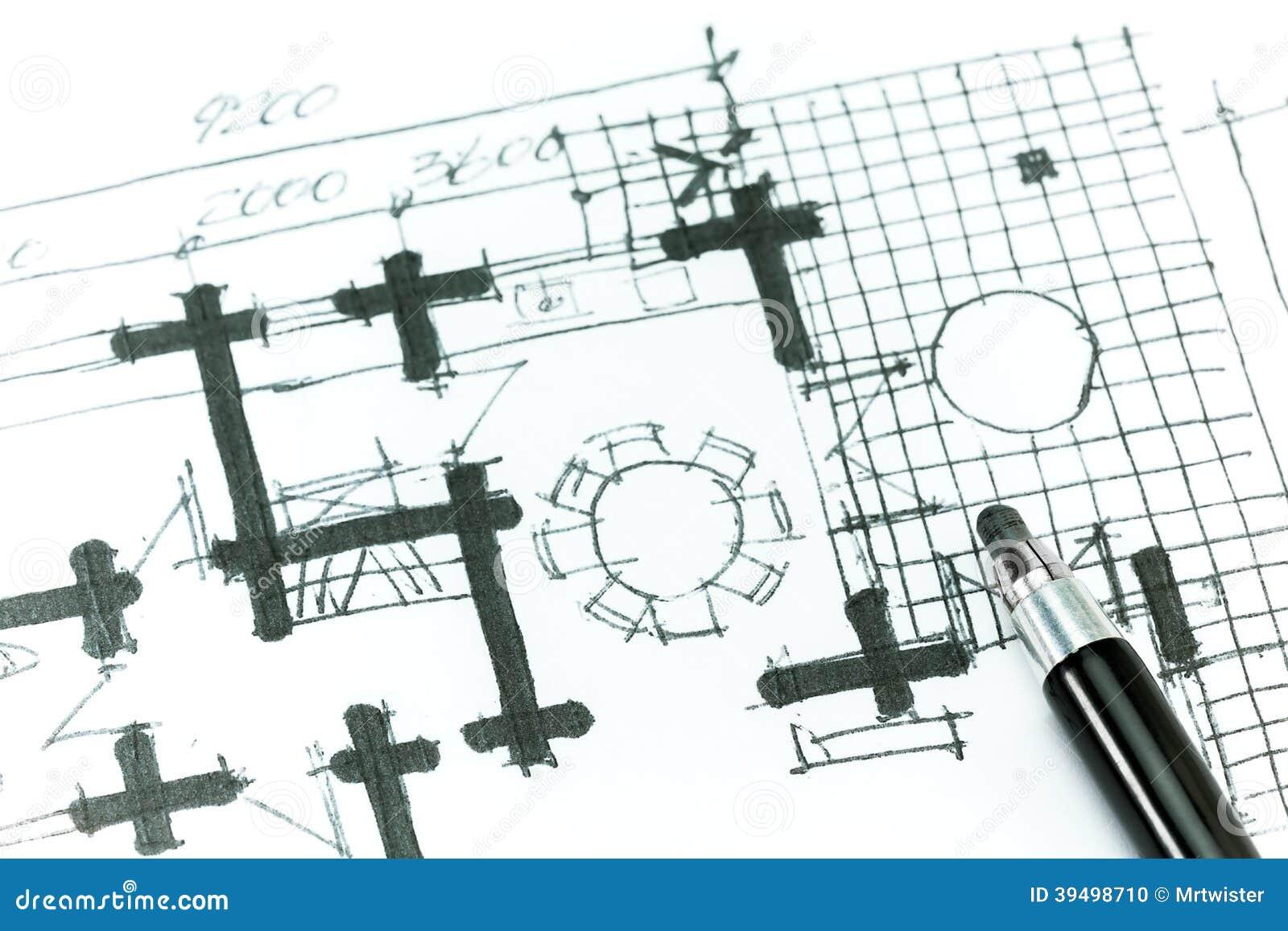 House Plan Drawing Stock Illustration   Image  House plan drawing