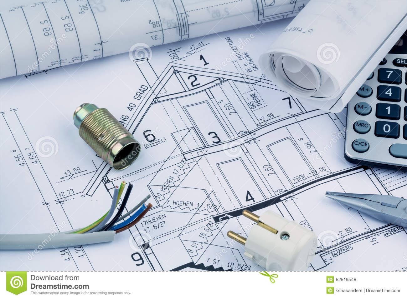 electrical plan new home a house plan electrical stock photo image of building 52519548  a house plan electrical stock photo