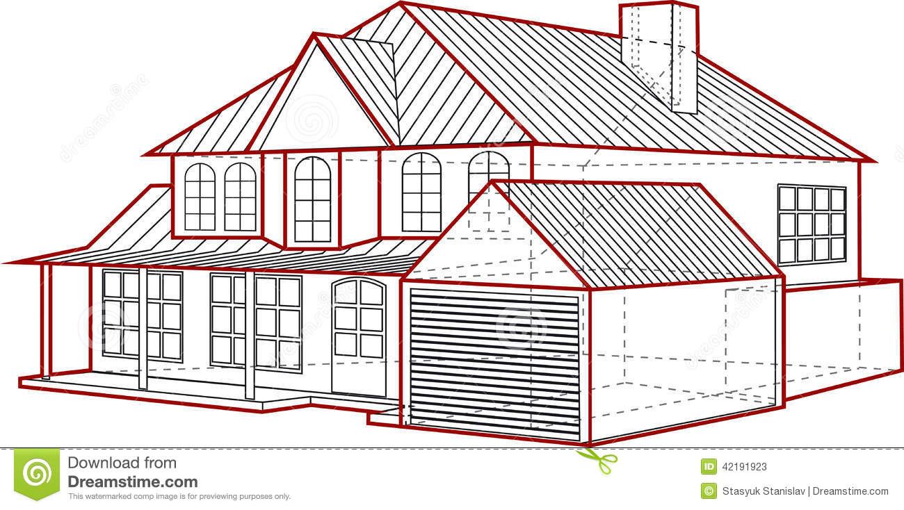 House Plan Stock Vector Image 42191923