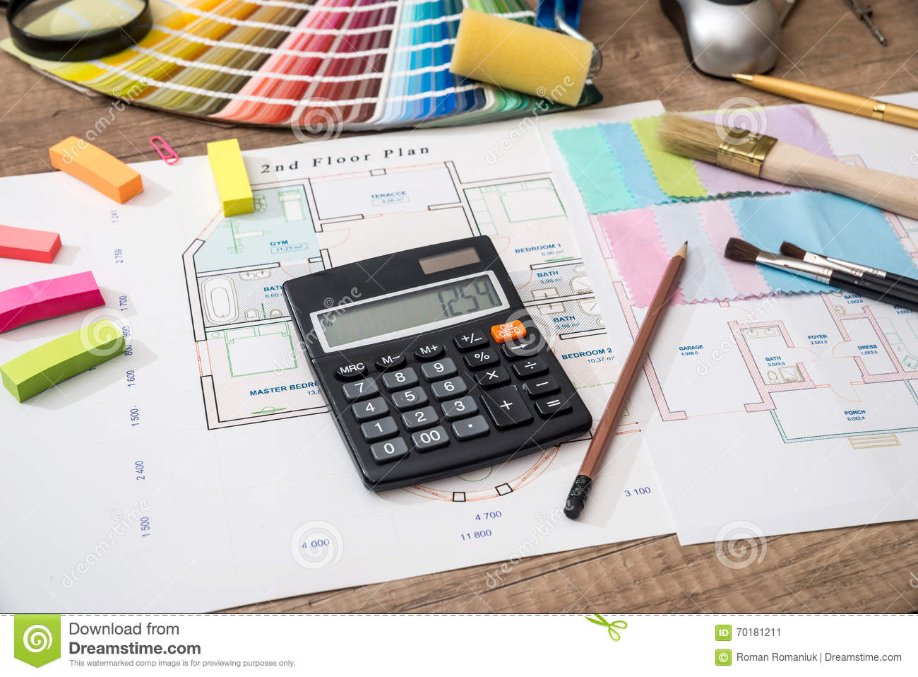 Home with color scheme paper and business construction for Building a home calculator