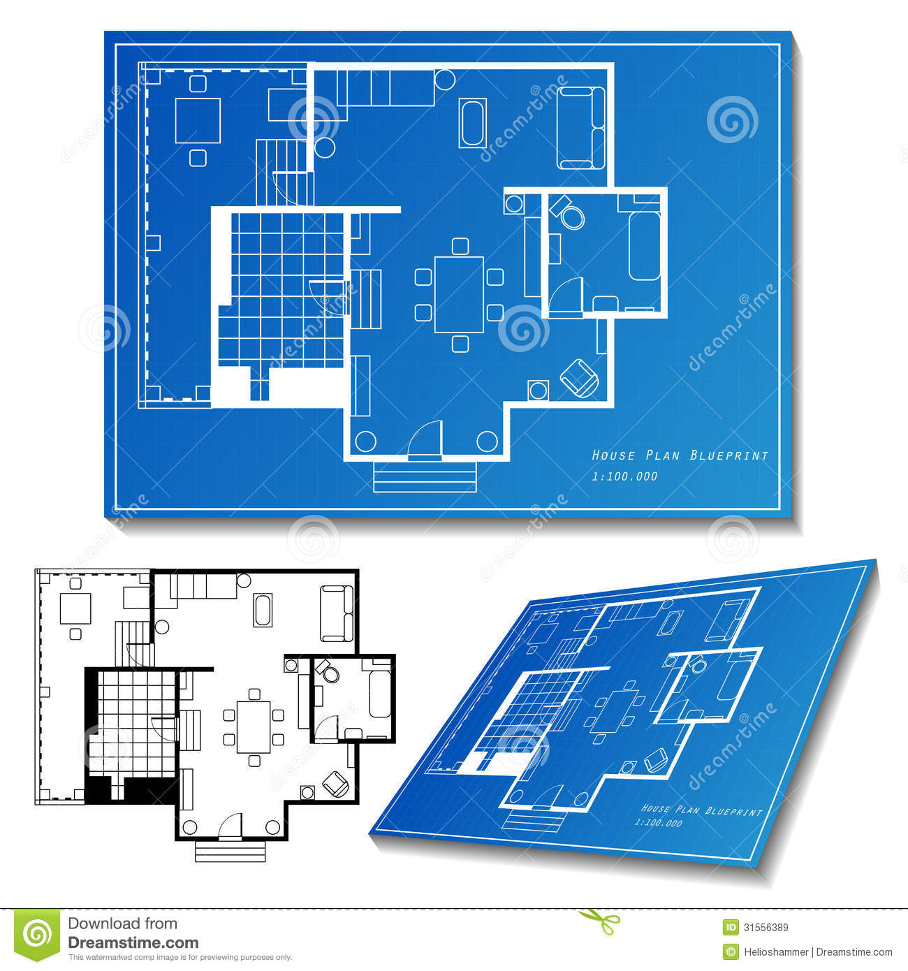 House plan set royalty free stock images image 31556389 for House plan set