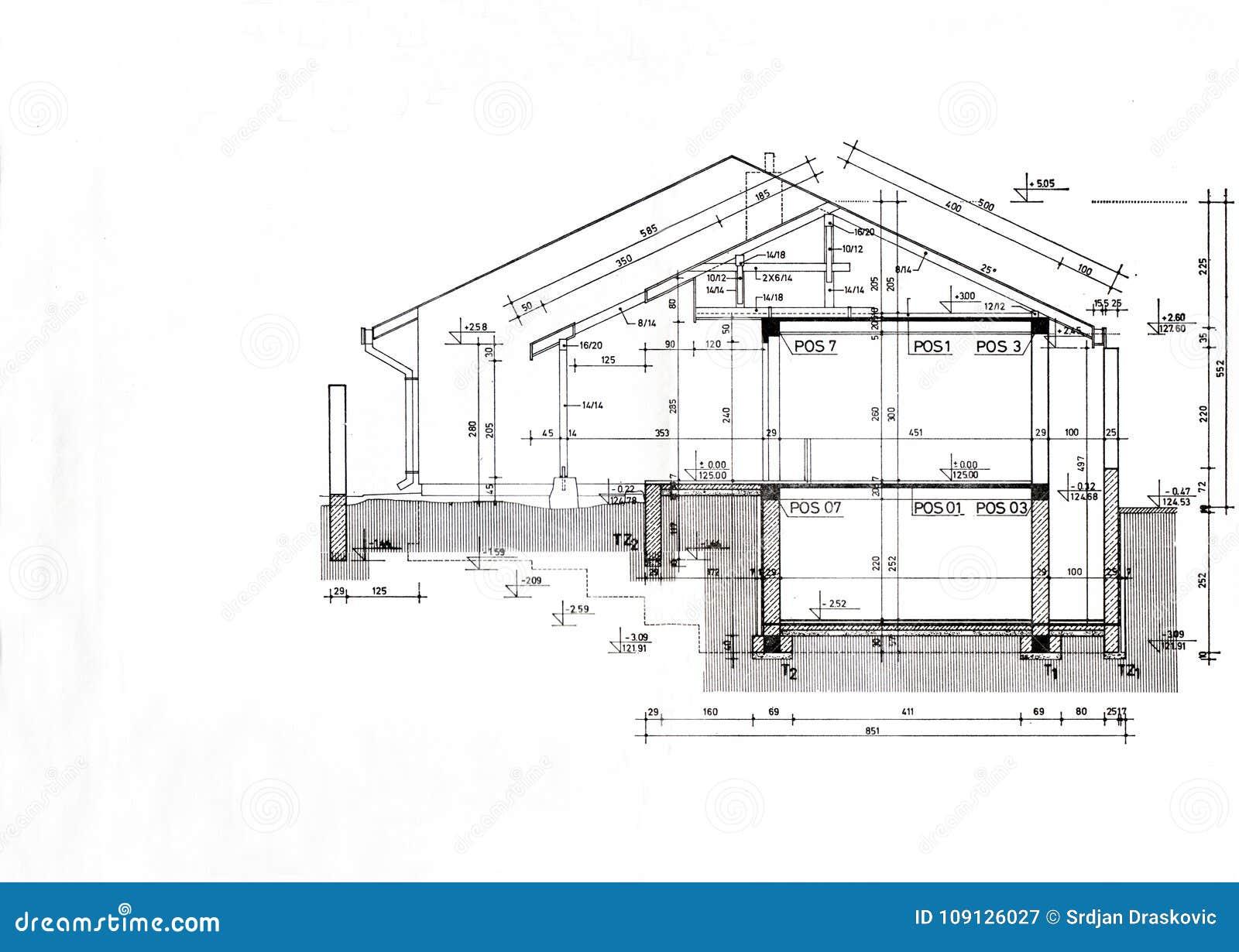 House plan template stock illustration  Illustration of draw