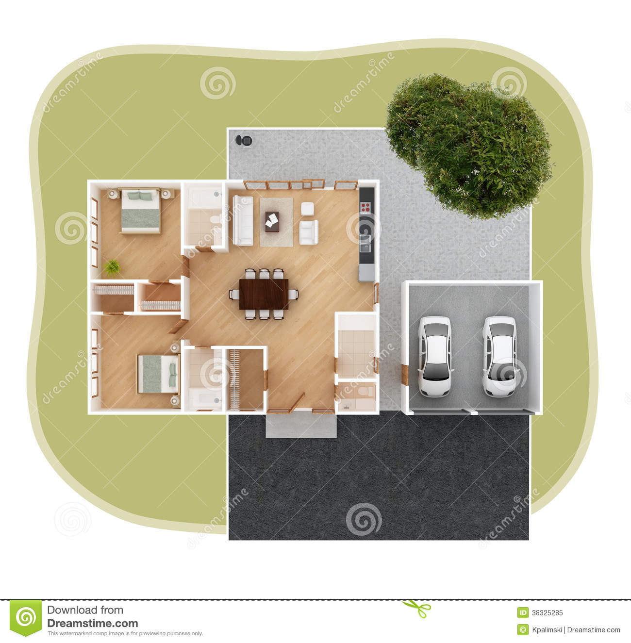 House Plan Top View Royalty Free Stock Photo