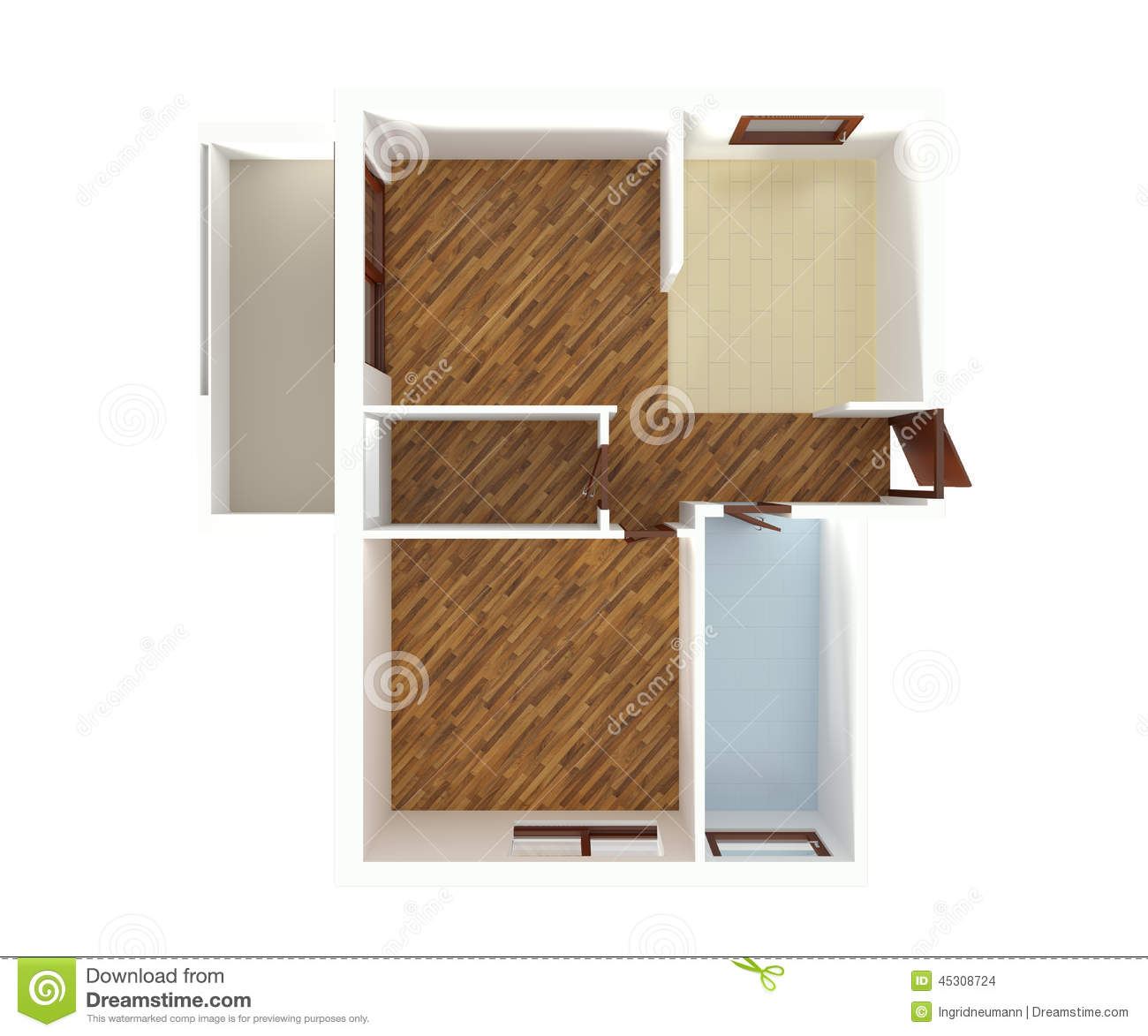 House plan top view interior design stock illustration for Bathroom designs top view