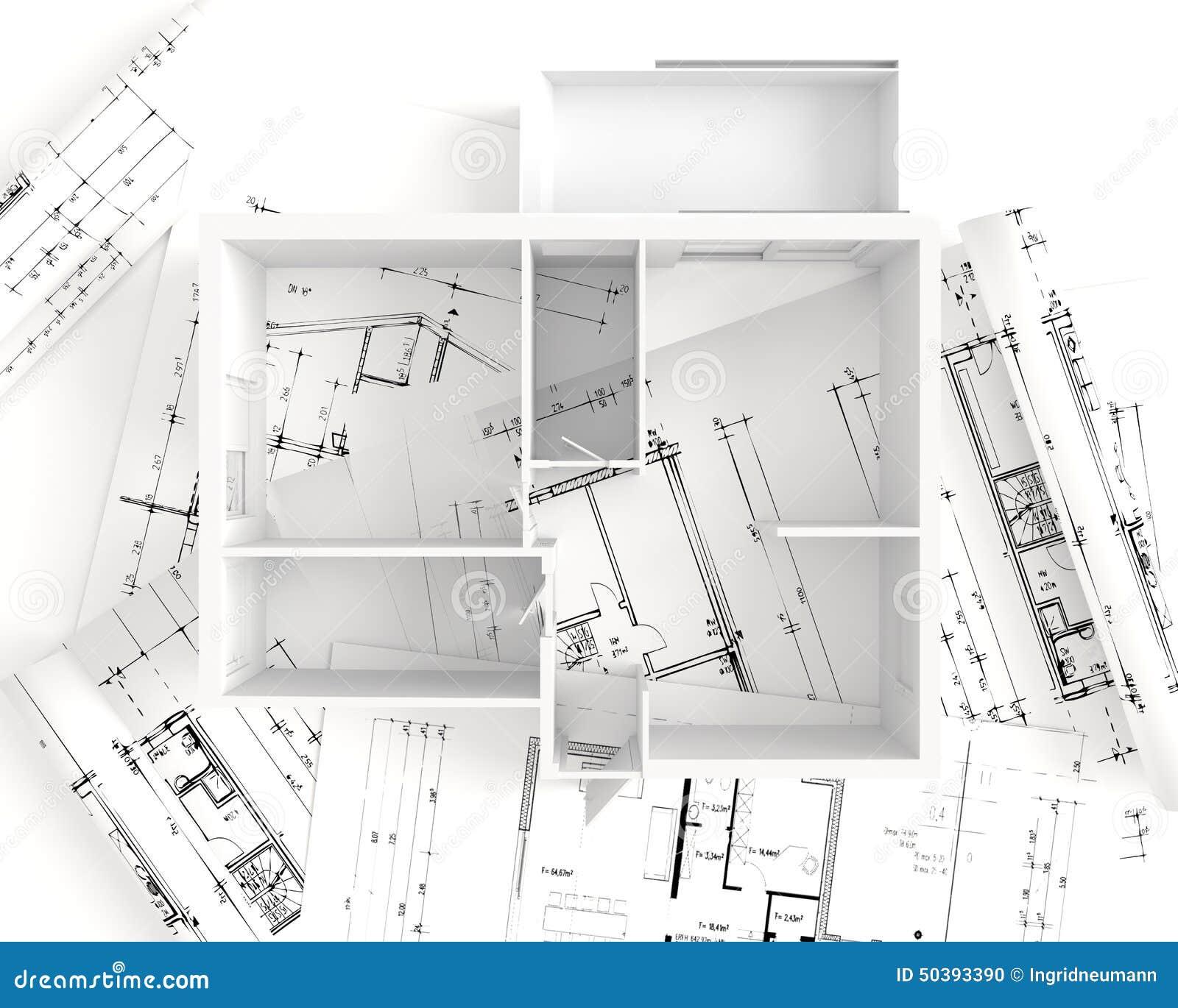house plan top view interior design stock illustration
