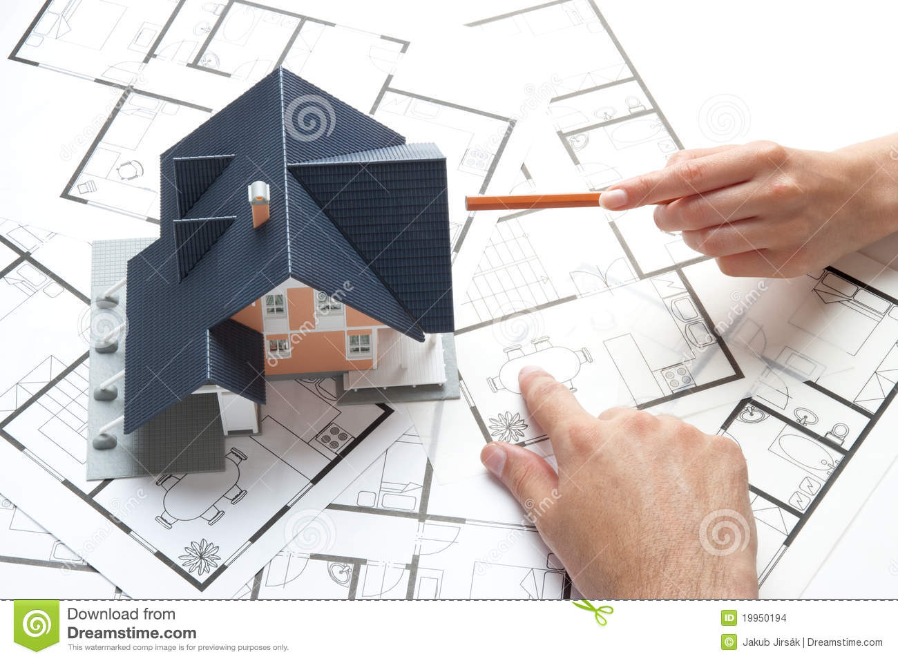 House planning stock images image 19950194 Planning a house