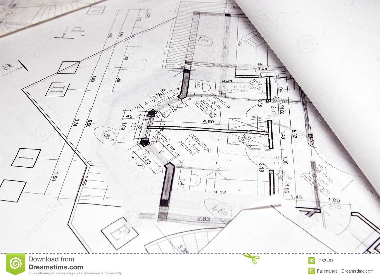 House Plans 1263497 House Plans Royalty Free Stock Photography Image 1263497 On Free Stock Home Plans