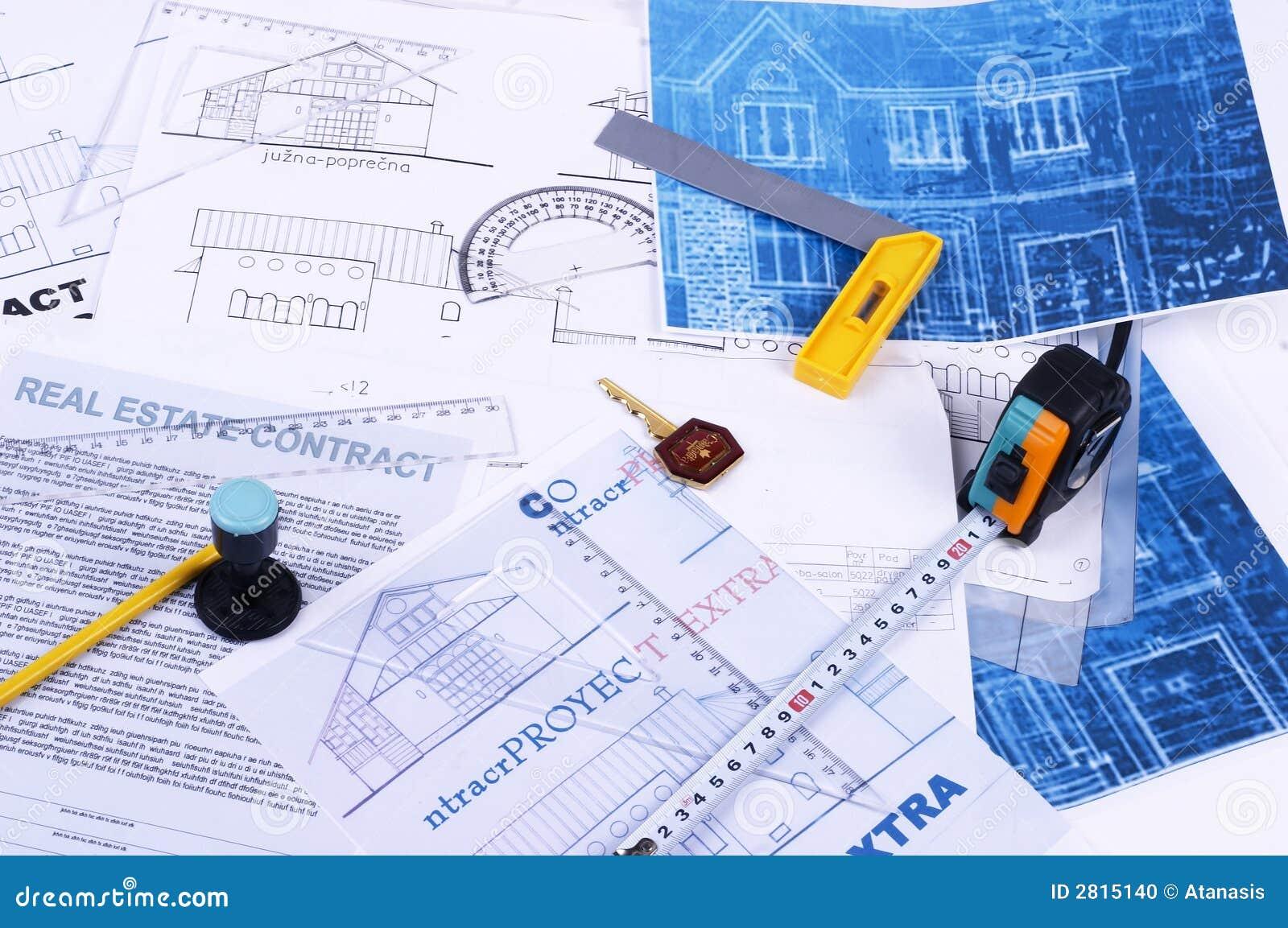 house plans stock photo image 2815140