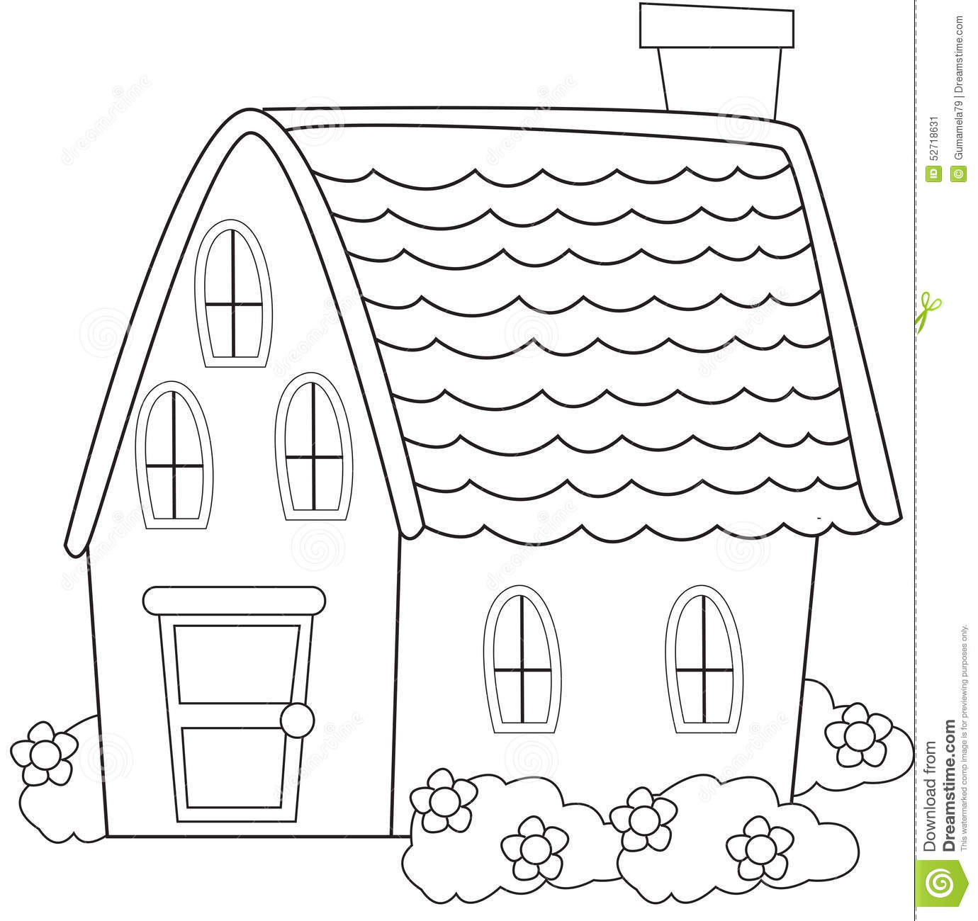 House coloring page stock illustration. Image of characters - 50165750