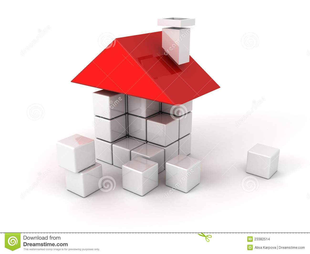 House Of The Plastic Building Blocks Stock Images Image