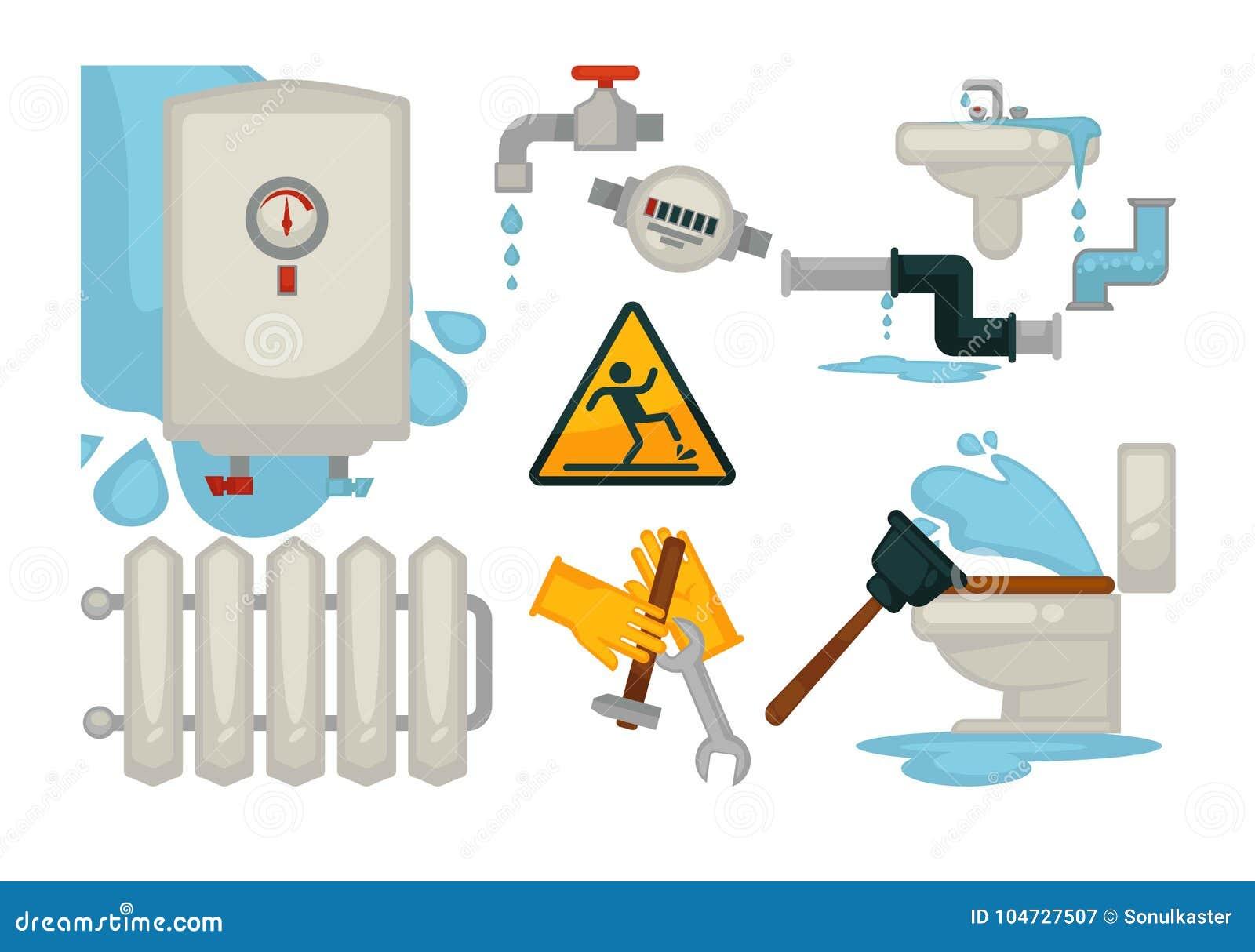 House Plumbing Plumber Repair Tools And Water Sewerage