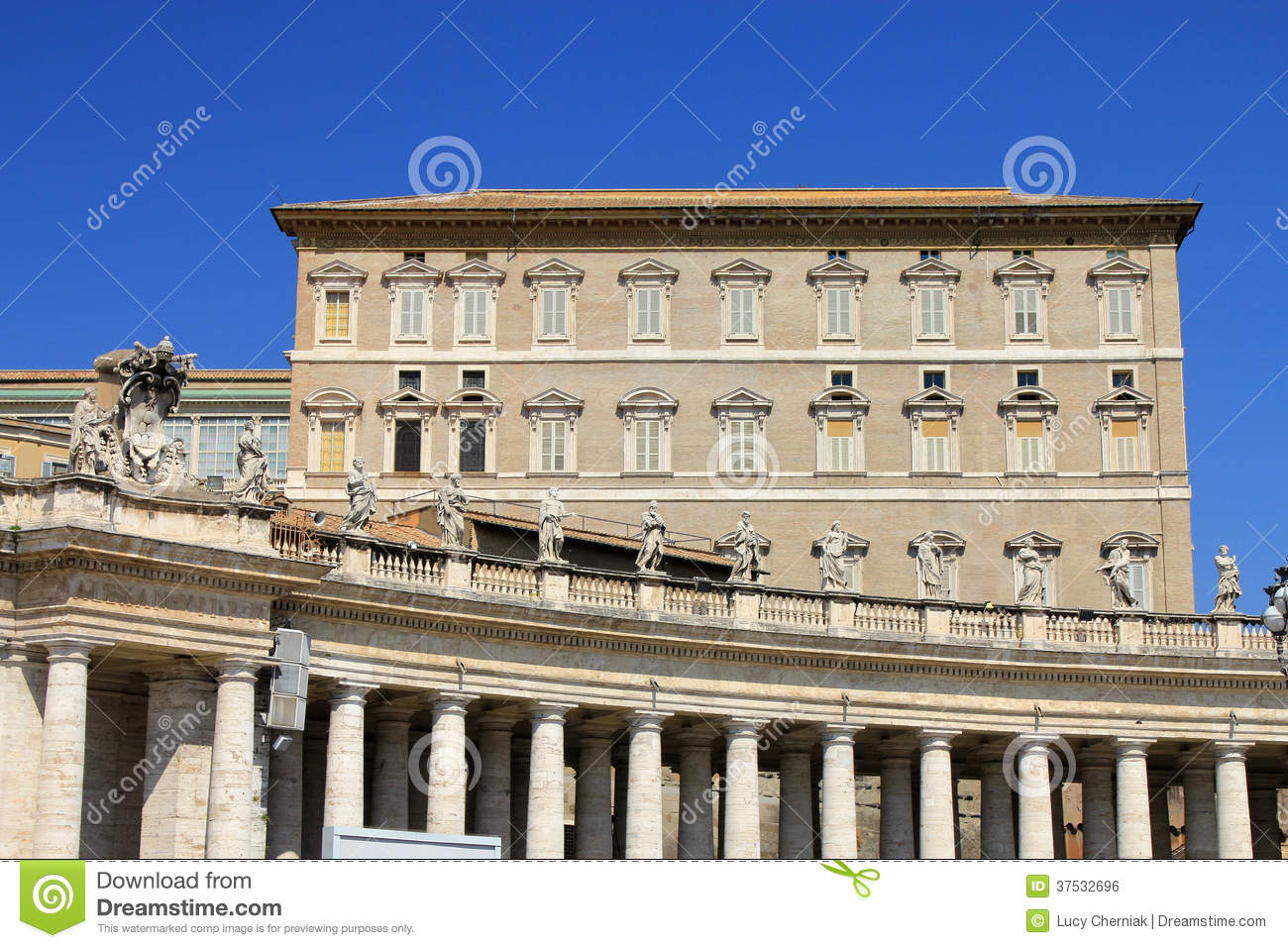 The House Of Pope Stock Photo  Image Of Square  Rome