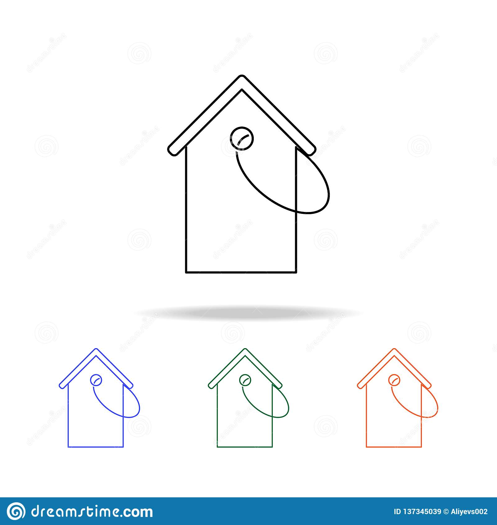 House Price Tag Icon Elements Of Real Estate In Multi