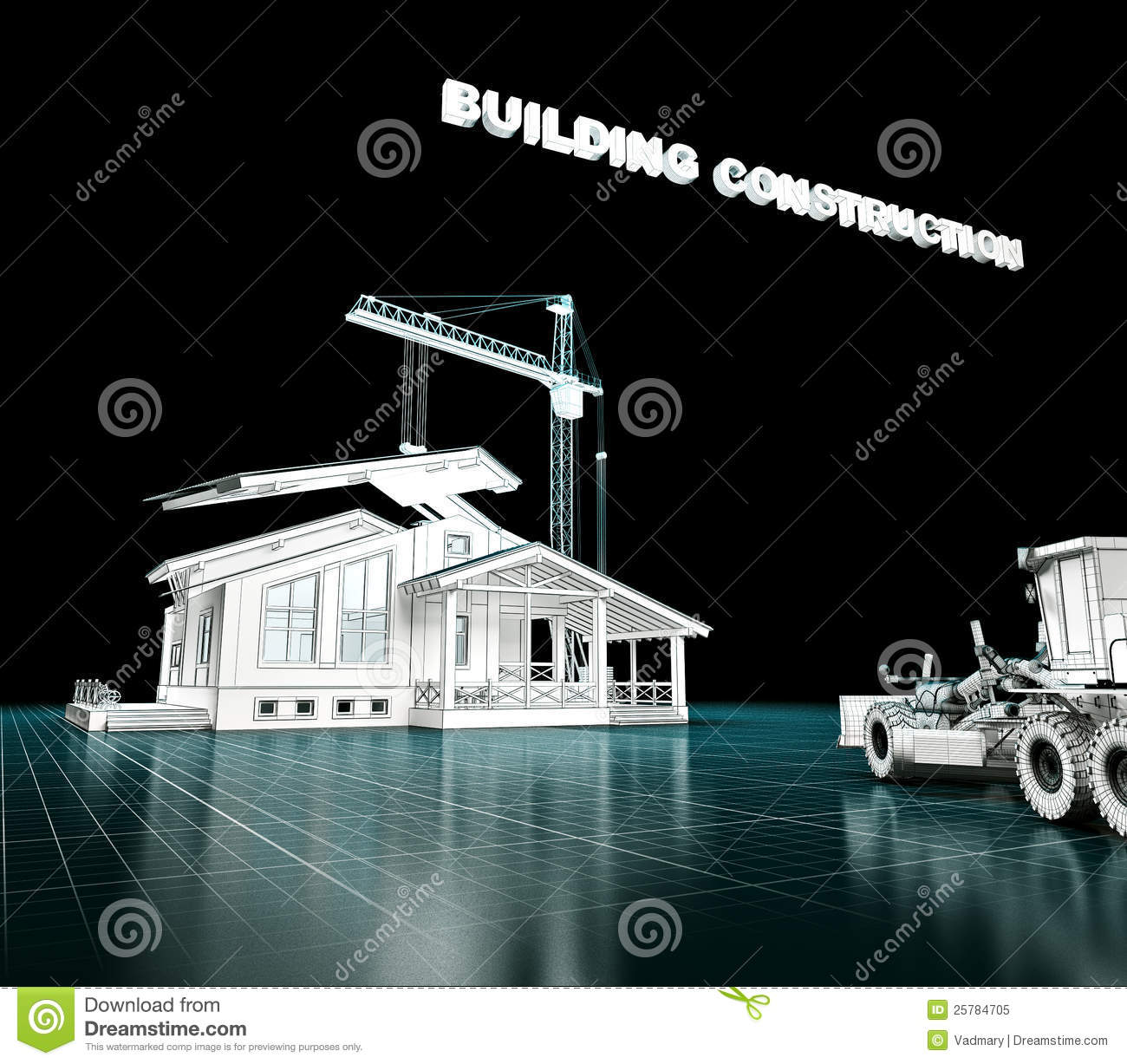 House project stock illustration image of home contour for Free house projects