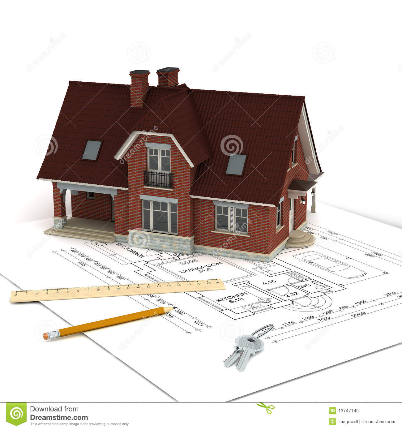 House with project and keys royalty free stock images for Free house projects