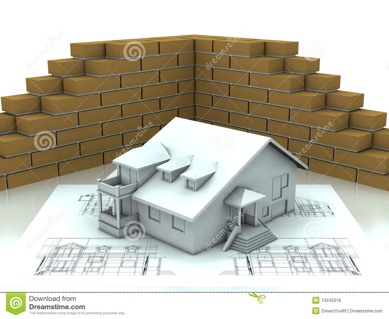 House project with wall royalty free stock images image for House project online