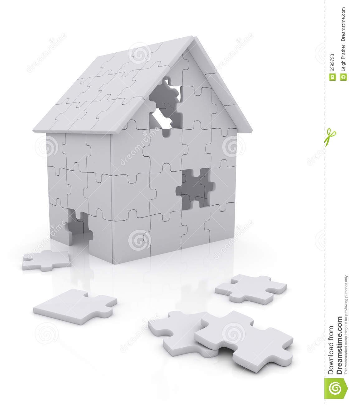 House of puzzle pieces