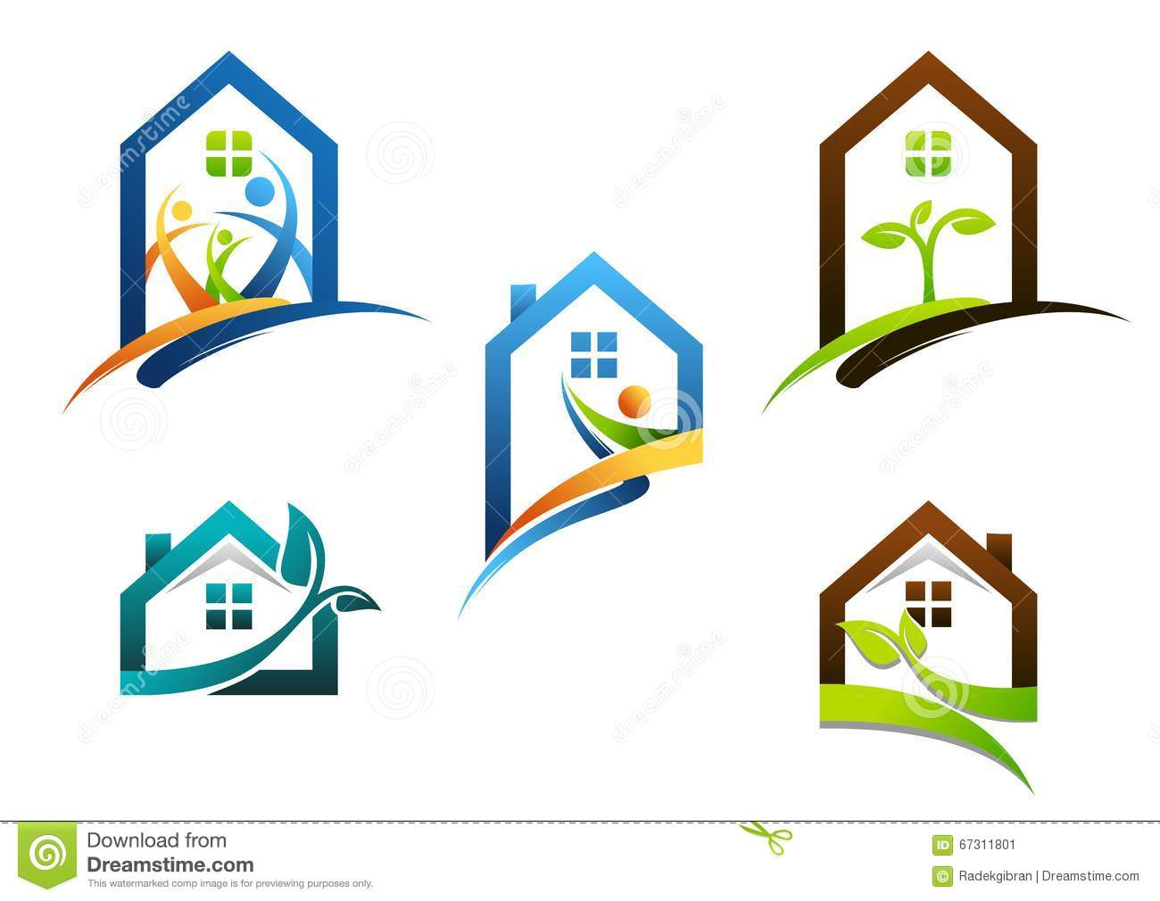 House real estate home logo apartment building icons for Apartment design vector