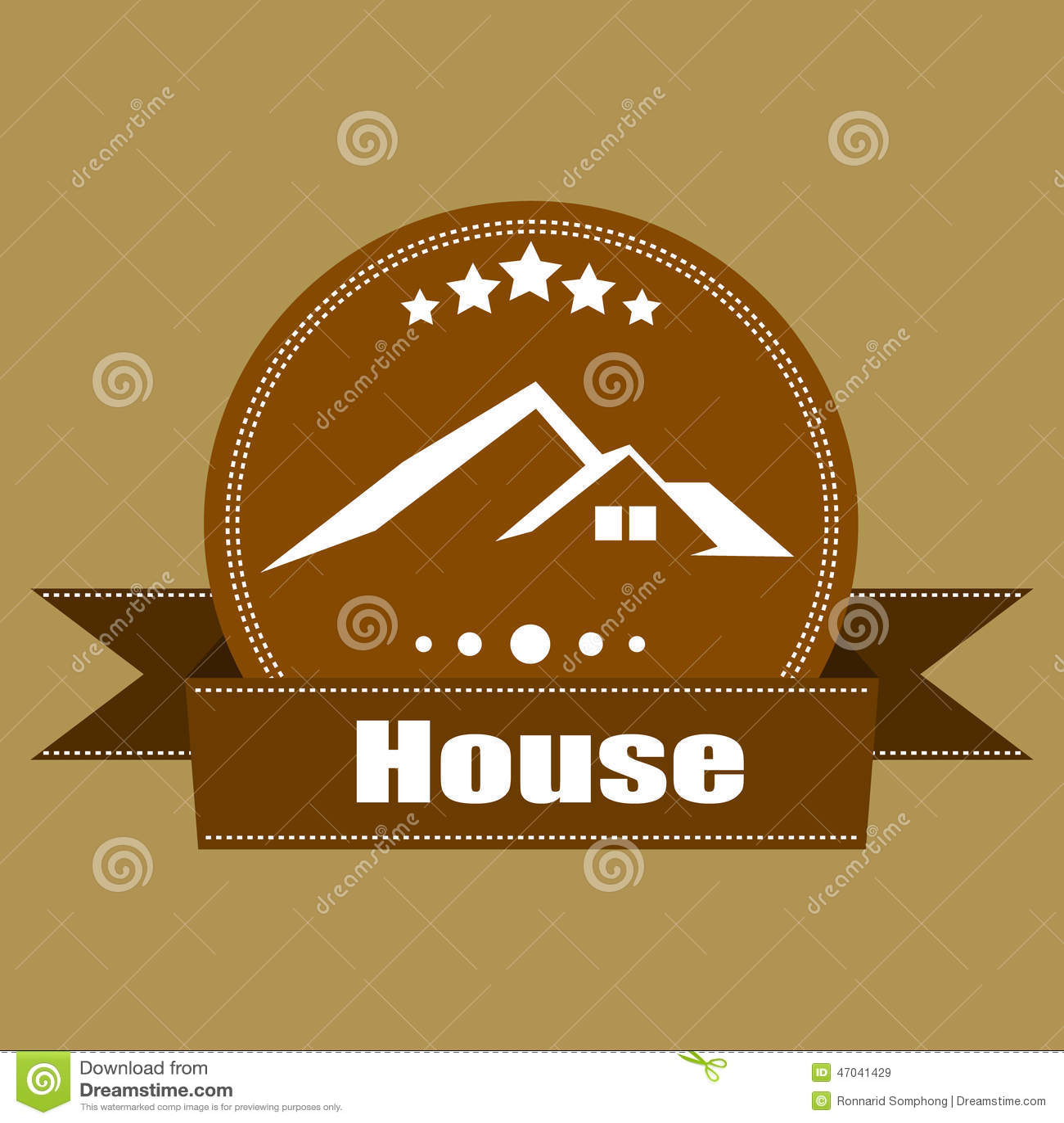 House real estate retro vintage logo labels design stock for Classic house labels