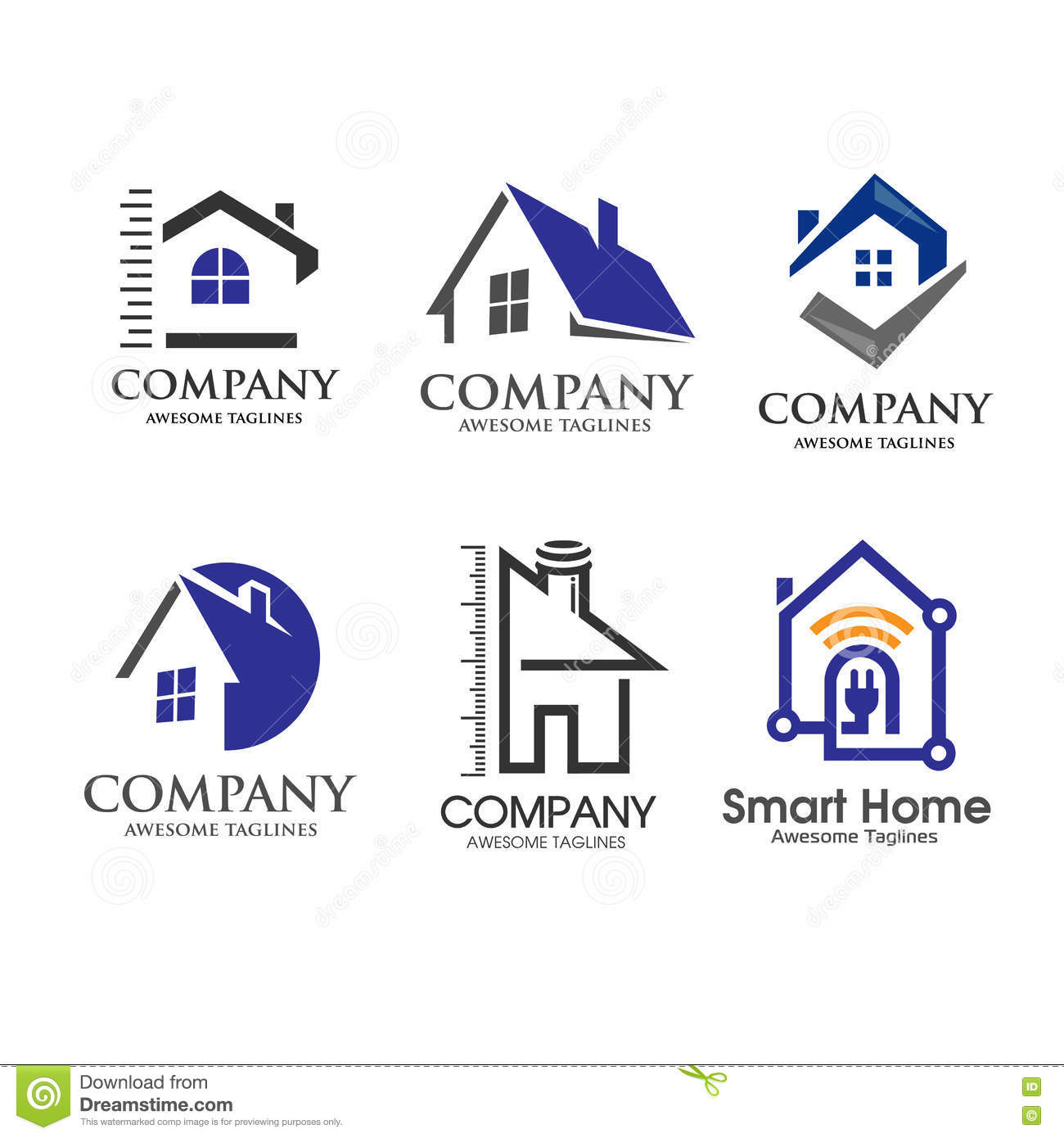 House And Real Estate Symbol Minimalist Concept Stock Vector