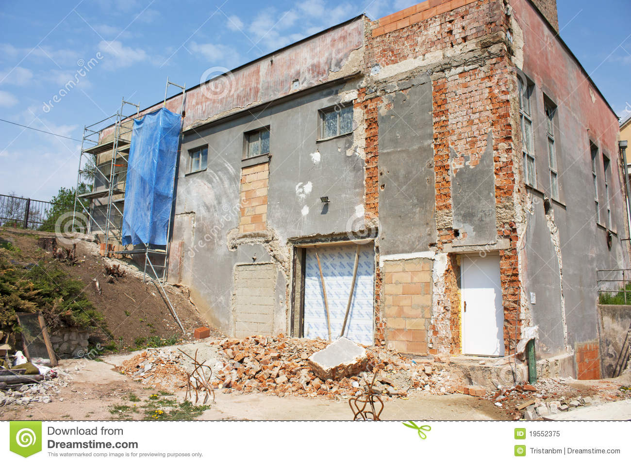 House Reconstruction Royalty Free Stock Photo Image