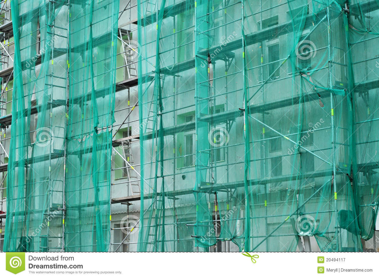 House Reconstruction Background Royalty Free Stock
